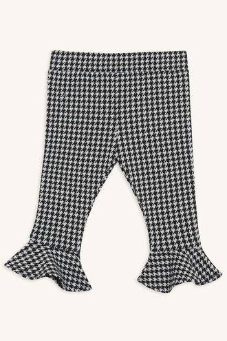 HOUNDSTOOTH PANT in colour JET BLACK
