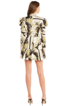 SCARF PRINT SHIRT DRESS in colour SNOW WHITE