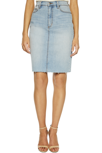 TUSK DENIM MIDI SKIRT in colour TRUE NAVY