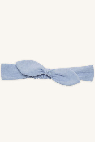 BABY CHAMBRAY HEADBAND in colour CASHMERE BLUE