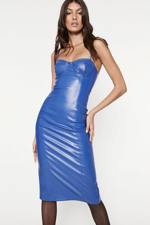 SIBELLA DRESS in colour BRIGHT COBALT