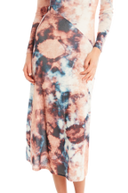 TIE DYE DRESS in colour PEACH MELBA