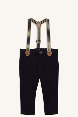 CHINO BRACES PANT in colour MOOD INDIGO