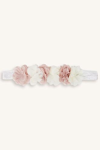 ROSIE BABY CROWN HEADBAND in colour BRIGHT WHITE