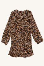 ADA LEOPARD DRESS in colour LATTE