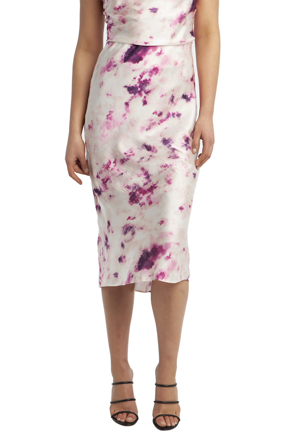 KENDAL BIAS SKIRT in colour BRIGHT VIOLET
