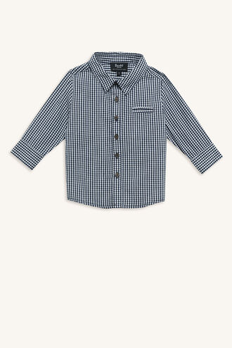 GINGHAM SHIRT in colour MARITIME BLUE