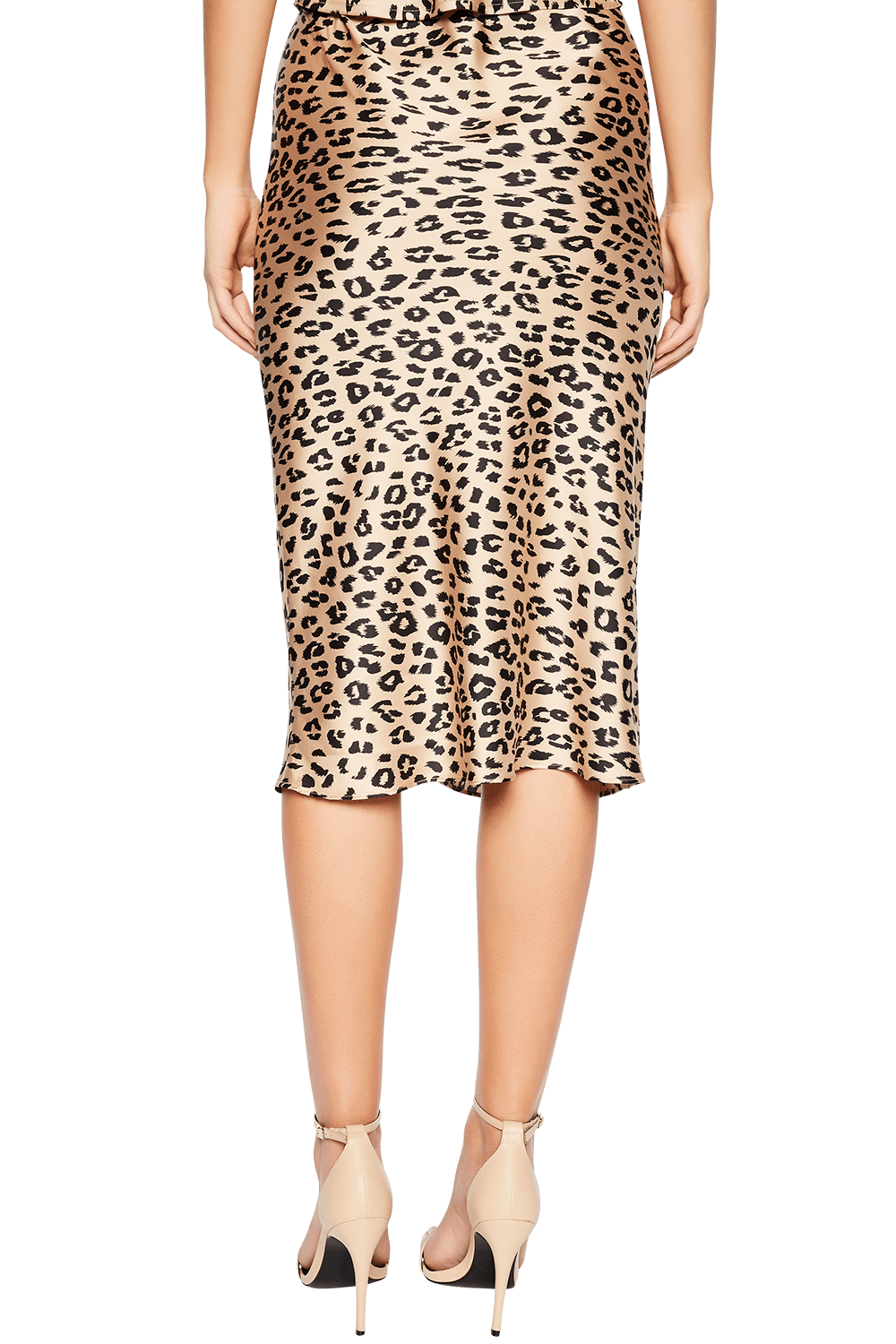 MAYAH LEOPARD SKIRT in colour JET BLACK