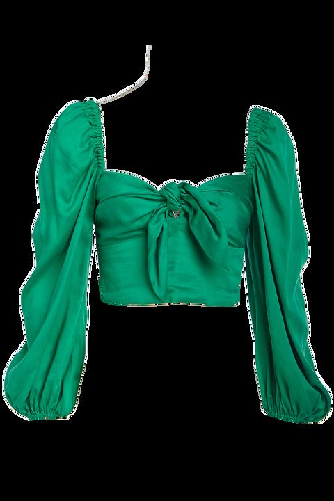 SOFIA BLOUSE in colour PEPPER GREEN