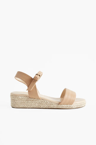 JUTE MINI WEDGE in colour BEIGE