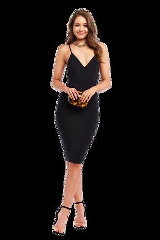 ELLIS BRALETTE DRESS in colour CAVIAR