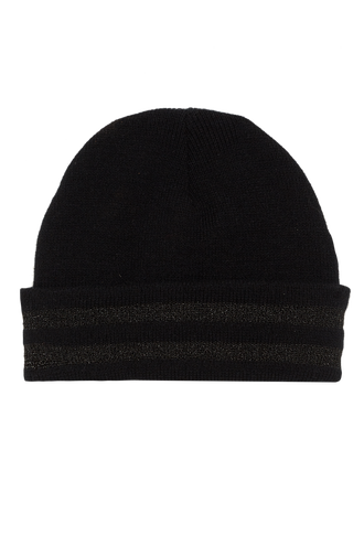 METALLIC CUFF BEANIE in colour METEORITE