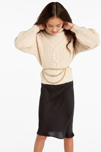 KARA CABLE KNIT in colour OATMEAL