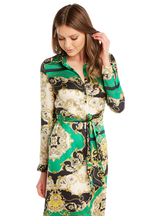 SCARF PR SHIRT DRESS in colour CLASSIC GREEN