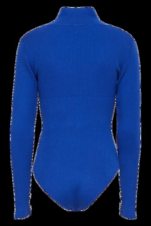 COLLAR BODYSUIT in colour BRIGHT COBALT