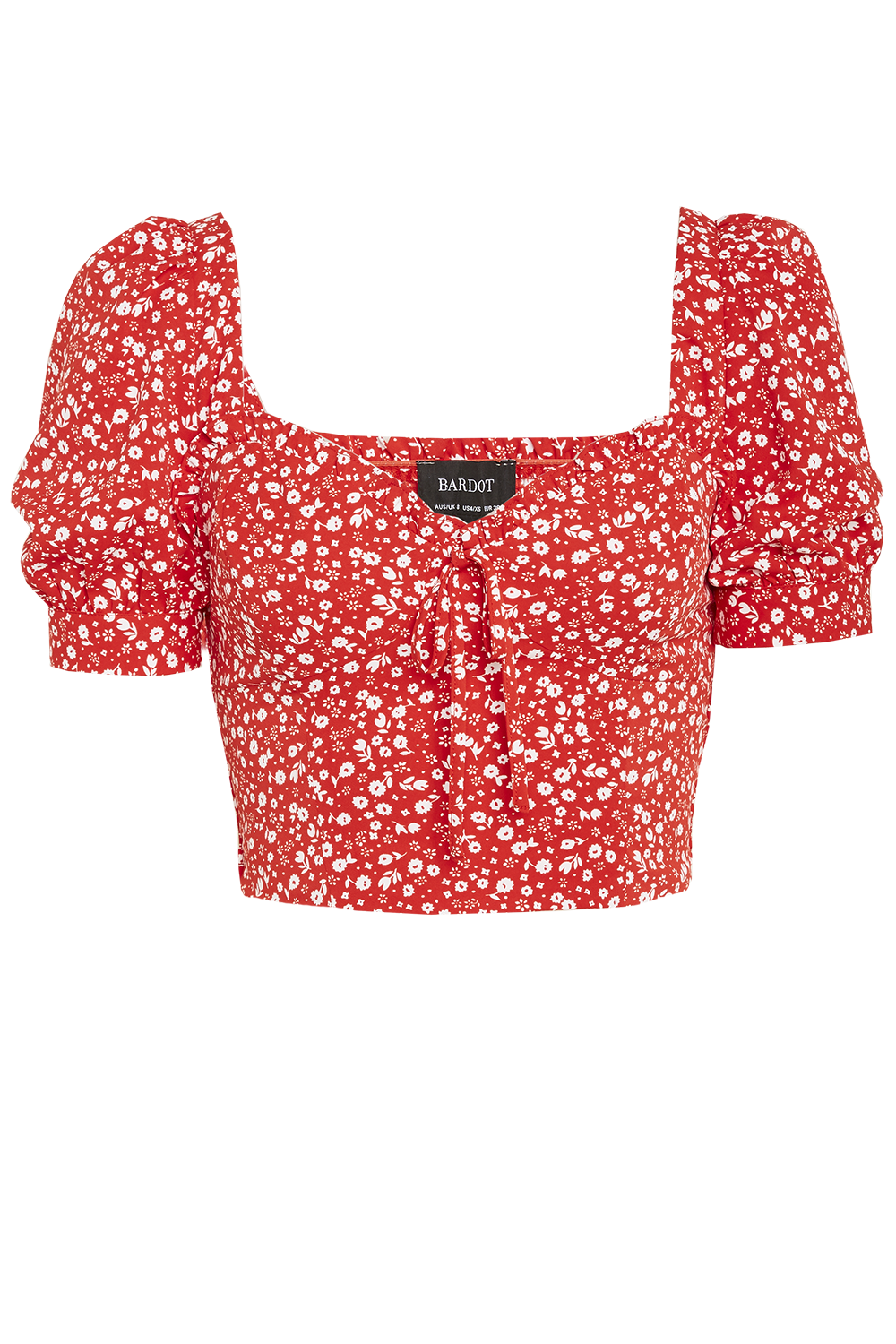 DITSY FLORAL TOP in colour RIBBON RED