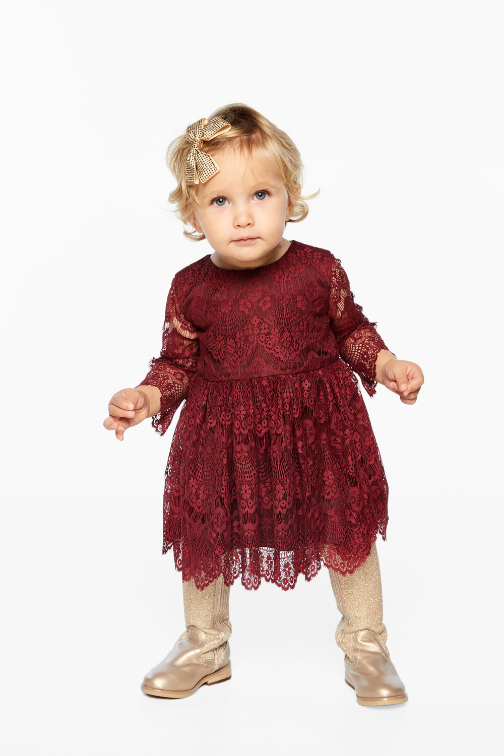 GERTRUDE LACE DRESS in colour RHODODENDRON