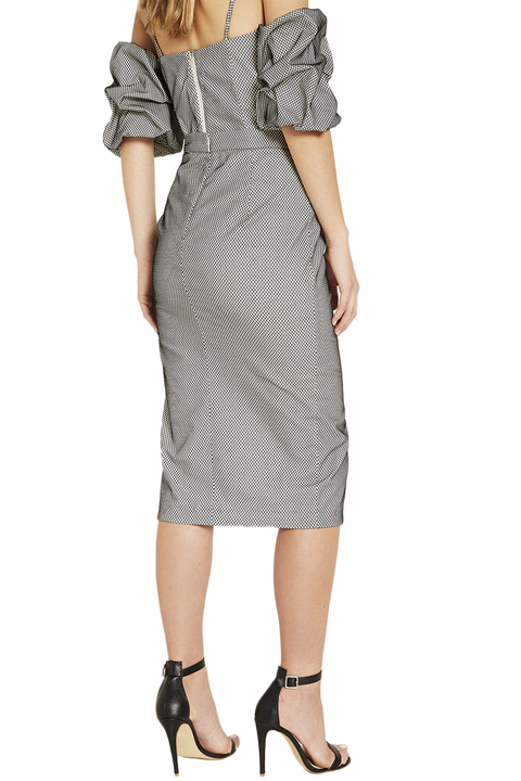 TATUM GRID SKIRT in colour CAVIAR