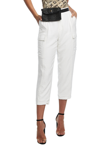 NATALIA CARGO PANT in colour CLOUD DANCER