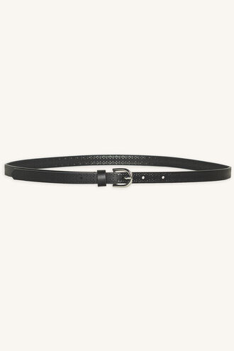 CUTOUT SKINNY BELT in colour METEORITE