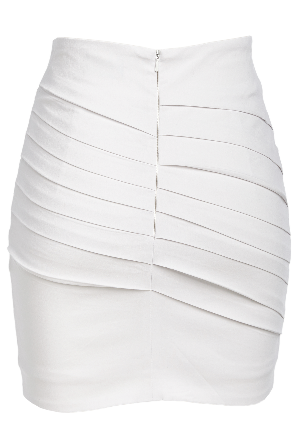 SIDNEY TUCK MINI SKIRT in colour BRIGHT WHITE