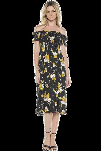 CINDY DRESS in colour CAVIAR