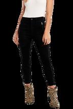 SIENNA BLACK BIKER JEAN in colour CAVIAR