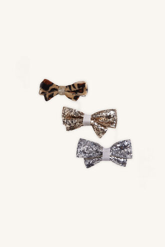 3 PACK BOW CLIP in colour BRIGHT WHITE