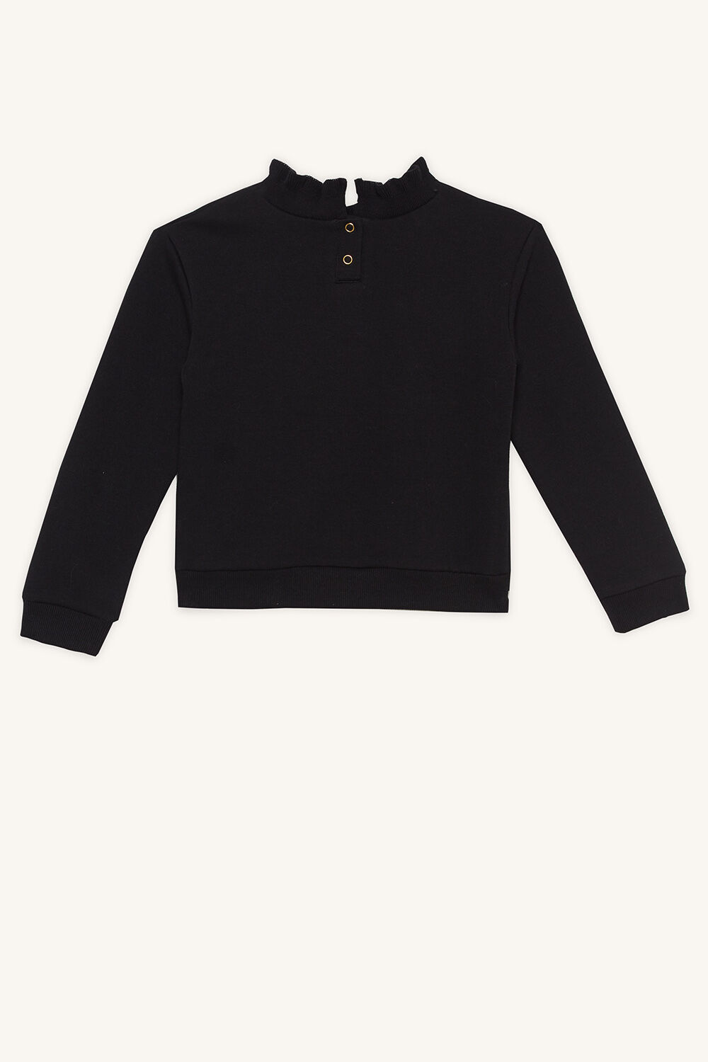 BARDOT UNICORN SWEAT in colour JET BLACK