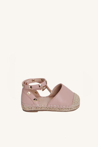 STUDDED ESPADRILLE in colour PINK CARNATION