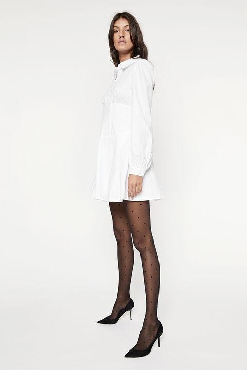 MAYA POPLIN SHIRT DRESS in colour BRIGHT WHITE