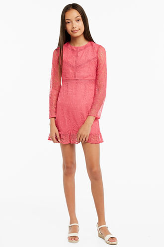 MELLIA LACE DRESS in colour MAGENTA