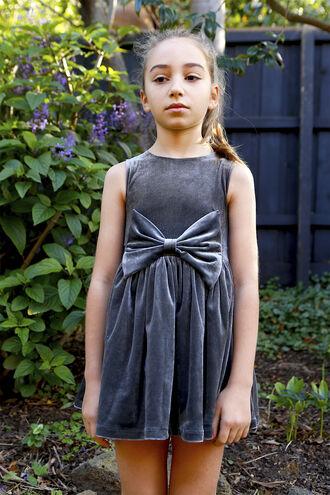 NAKITA BOWIE DRESS in colour CASTLEROCK