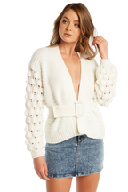 EIRA BOBBLE CARDI in colour BRIGHT WHITE