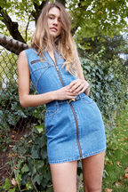 DONATELLA DENIM DRESS in colour CAPTAIN'S BLUE