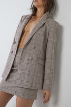 MADRID CHECK BLAZER in colour PARCHMENT