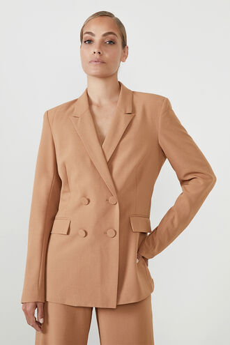 ATHENA BLAZER in colour COPPER BROWN