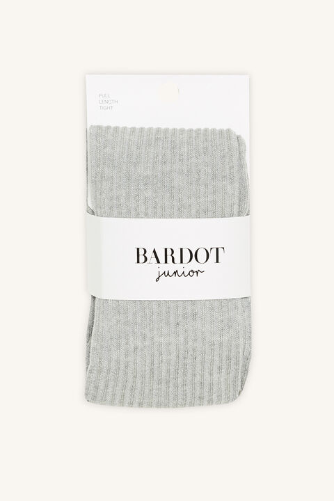 COTTON RIBBED TIGHTS in colour GRAY MIST