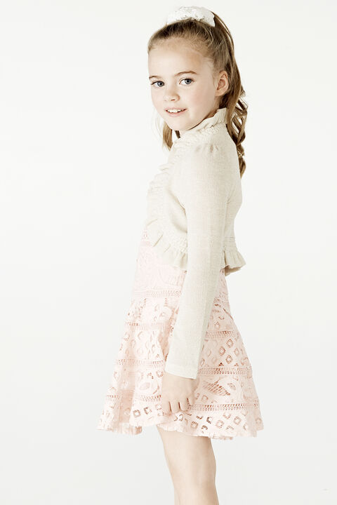 JUNIOR GIRL INEZ BOLERO CARDI in colour CLOUD DANCER