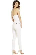 KHLOE HIGH RISE JEAN in colour BRIGHT WHITE