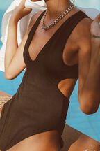 XENA BODYSUIT in colour CAVIAR