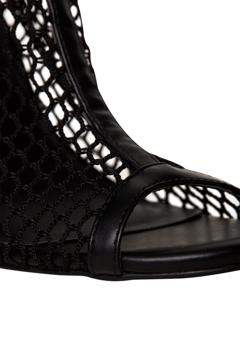 MESH ANKLE BOOT in colour METEORITE