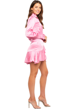 RACHELLE FRILL DRESS in colour SEA PINK