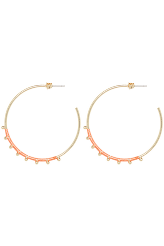 SUPREME DROP EARRINGS in colour GOLD EARTH