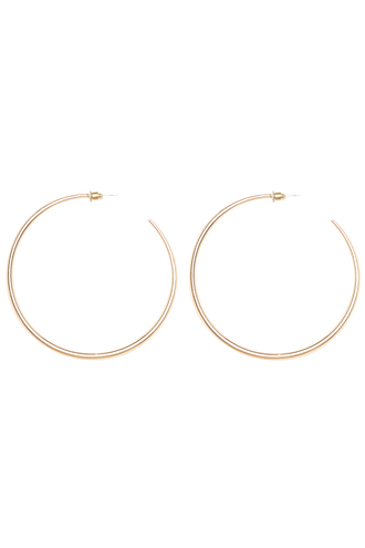 SUPER HOOP EARRINGS in colour GOLD EARTH