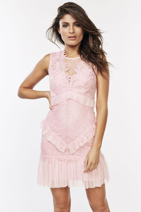 FRANCESCA DRESS in colour PINK LADY