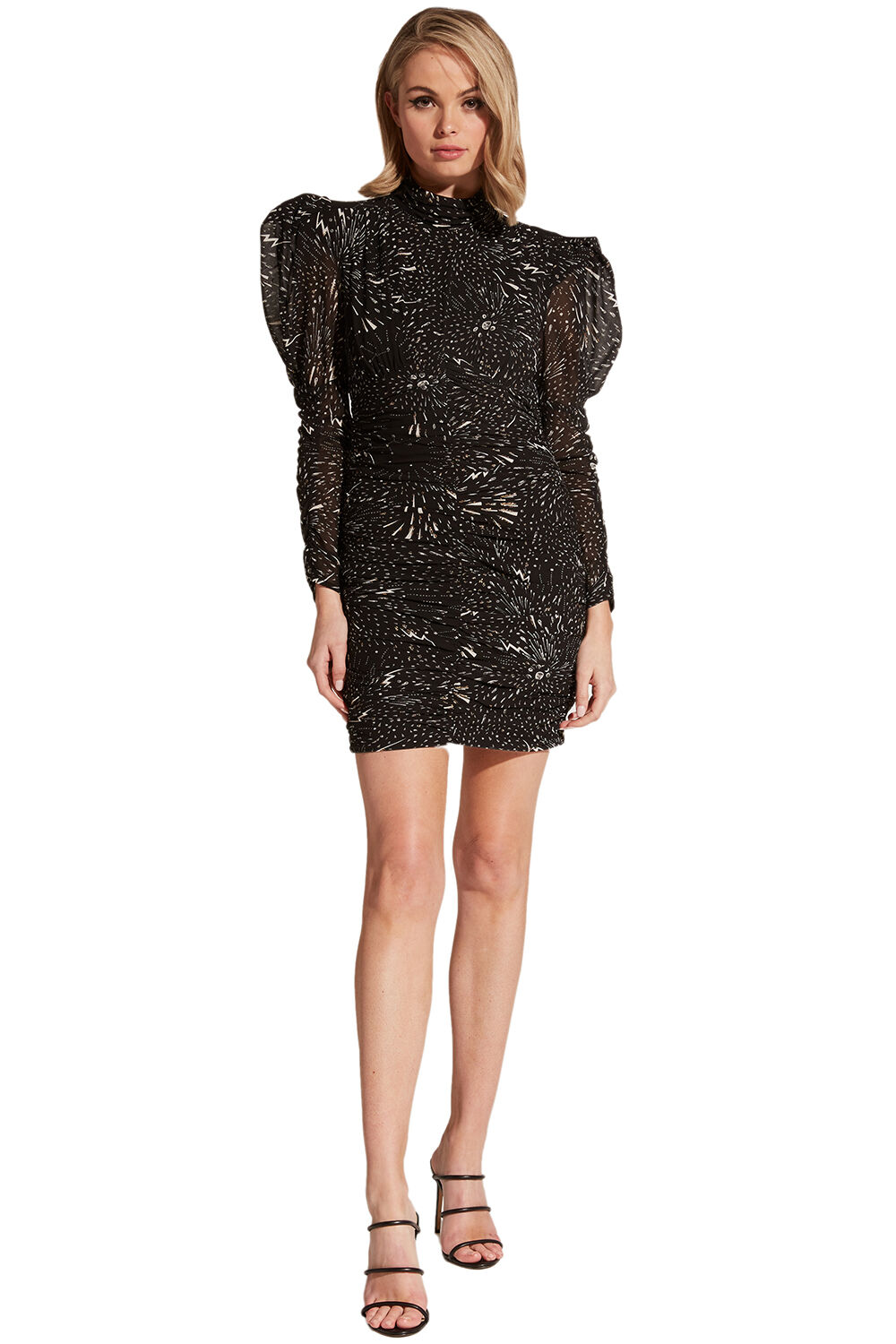 CONSTELLATION DRESS in colour STRETCH LIMO