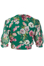 TIFFANY FLORAL TOP in colour AMAZON