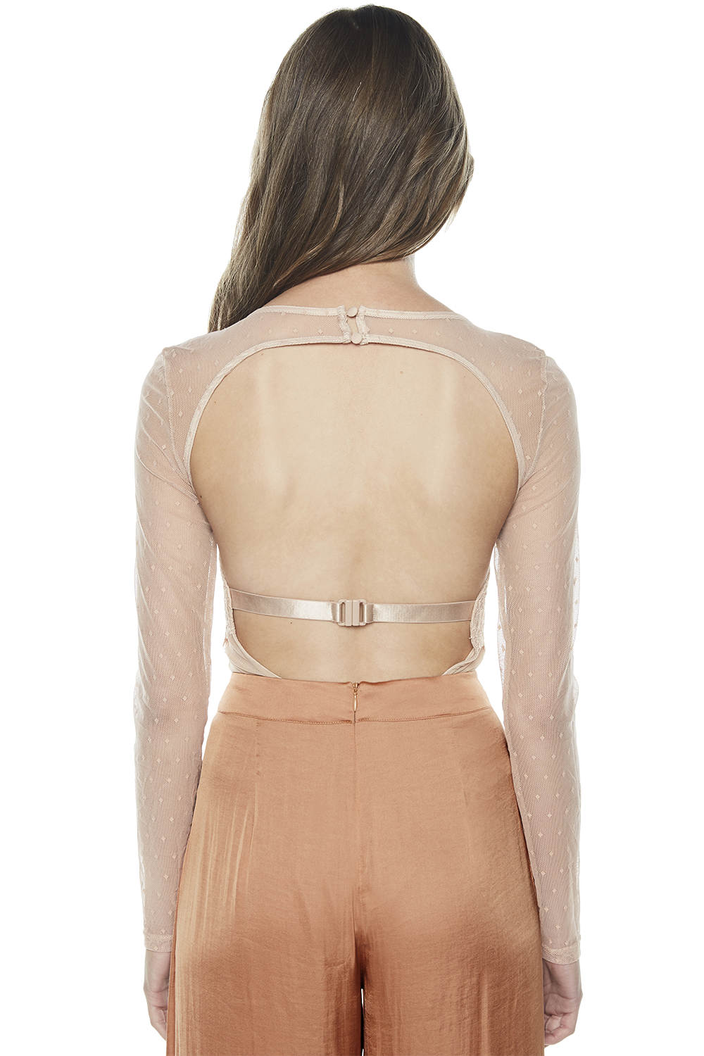 FARRAH BODYSUIT in colour RUGBY TAN