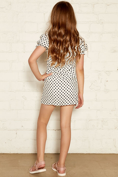 PRESLEY MINI DRESS in colour CLOUD DANCER